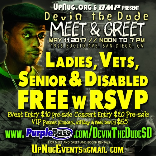 FREE w RSVP OFFER - Devin The Dude M and G - IG Indy