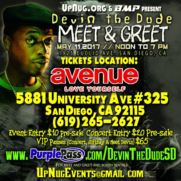 Ticket klocation Avenue - Devin The Dude M and G - IG Indy